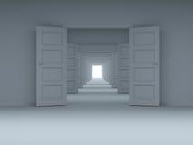 Conceito da escolha, inovação. 3D. ilustração royalty free