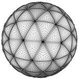 conceito da esfera do frame do fio 3d isolado no branco Imagens de Stock Royalty Free
