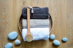 Conceito da esfoliação fresca, do bem-estar limpo e do banho turco masculino imagem de stock royalty free