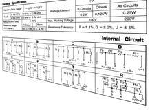 Conceito da especificação do circuito no branco ilustração stock