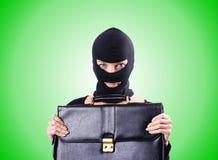 Conceito da espionagem industrial com pessoa dentro Fotos de Stock Royalty Free