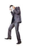 Conceito da espionagem industrial - homem de negócios mascarado Fotografia de Stock
