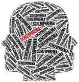 Conceito da esquizofrenia ou da doença mental ilustração do vetor
