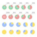 Conceito da estatística da carta de torta Diagrama do processo de fluxo do negócio Elementos de Infographic para a apresentação p Fotografia de Stock Royalty Free