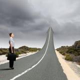 Conceito da estrada ao sucesso Fotografia de Stock