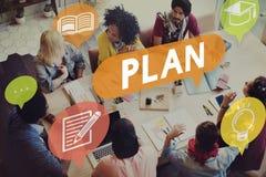 Conceito da estratégia da educação do planeamento do plano foto de stock royalty free