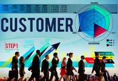 Conceito da estratégia da eficiência do serviço da lealdade do cliente Fotografia de Stock Royalty Free