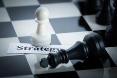 Conceito da estratégia da xadrez Fotos de Stock
