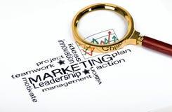 Conceito da estratégia de marketing imagens de stock