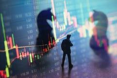 Conceito da estratégia do mercado de valores de ação Imagens de Stock