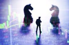 Conceito da estratégia do mercado de valores de ação Fotografia de Stock