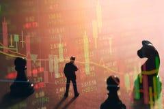 Conceito da estratégia do mercado de valores de ação Imagem de Stock Royalty Free