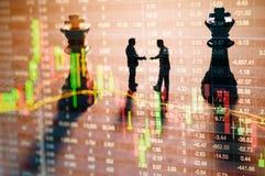 Conceito da estratégia do mercado de valores de ação Foto de Stock