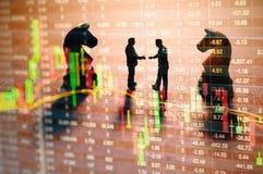 Conceito da estratégia do mercado de valores de ação Fotos de Stock
