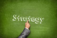 Conceito da estratégia empresarial Fotos de Stock