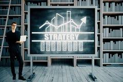 Conceito da estratégia empresarial Foto de Stock