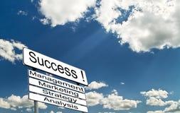 Conceito da estratégia empresarial bem sucedida Fotos de Stock Royalty Free