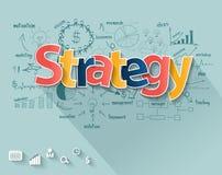 Conceito da estratégia empresarial do vetor ilustração do vetor