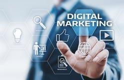 Conceito da estratégia da propaganda do planeamento do índice do mercado de Digitas imagens de stock royalty free