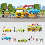 Conceito da evacuação do carro ilustração royalty free