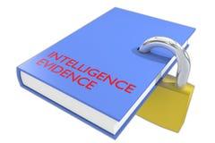 Conceito da evidência da inteligência ilustração do vetor