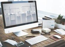 Conceito da expansão da inovação do desenvolvimento de negócios Imagem de Stock