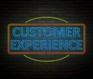 Conceito da experiência do cliente Imagens de Stock