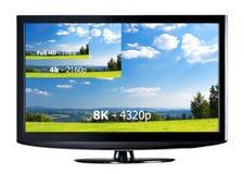 Conceito da exposição da televisão Fotos de Stock