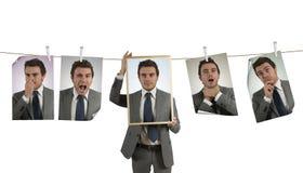 Emoções no negócio Fotografia de Stock Royalty Free