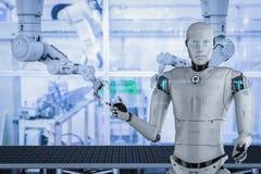 Conceito da fábrica da automatização ilustração do vetor