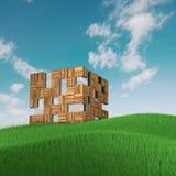 Conceito da fachada do cubo Fotos de Stock Royalty Free