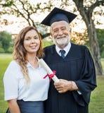 Conceito da faculdade do certificado do sucesso da celebração da graduação Imagem de Stock Royalty Free