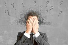 Conceito da falha, do medo e da confusão imagens de stock royalty free