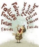 Conceito da falha, homem de negócios ilustração stock