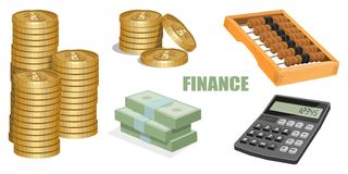 Conceito da finança ilustração stock