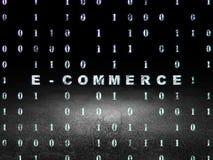 Conceito da finança: Comércio eletrônico na sala escura do grunge Imagem de Stock