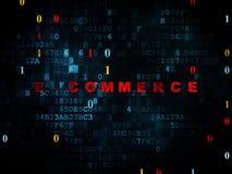 Conceito da finança: Comércio eletrônico no fundo de Digitas Fotografia de Stock Royalty Free