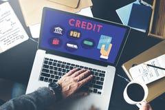 Conceito da finança do fluxo de caixa da pontuação de crédito fotografia de stock