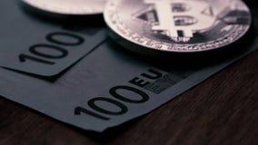 Conceito da finança e da moeda cripto vídeos de arquivo