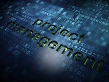 Conceito da finança: Gestão do projeto em digital Fotografia de Stock