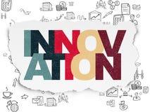 Conceito da finança: Inovação no papel rasgado ilustração stock