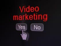 Conceito da finança: Mercado video em digital Imagem de Stock Royalty Free