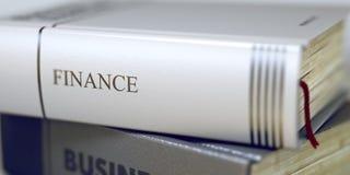 Conceito da finança no título do livro 3d Fotos de Stock