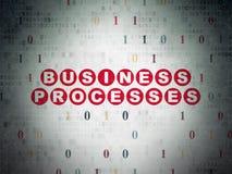 Conceito da finança: Processos de negócios em digital Imagem de Stock Royalty Free