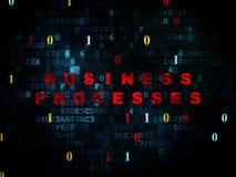 Conceito da finança: Processos de negócios em digital Fotografia de Stock Royalty Free