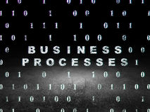 Conceito da finança: Processos de negócios na obscuridade do grunge Imagem de Stock Royalty Free