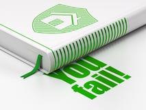 Conceito da finança: protetor do livro, você falha! no fundo branco Imagens de Stock