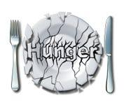 Conceito da fome e da pobreza Fotos de Stock Royalty Free