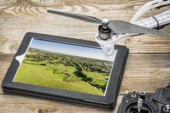 Conceito da fotografia aérea do zangão Imagem de Stock Royalty Free