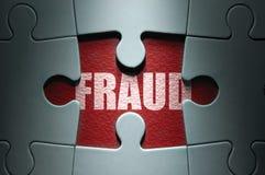 Conceito da fraude Foto de Stock